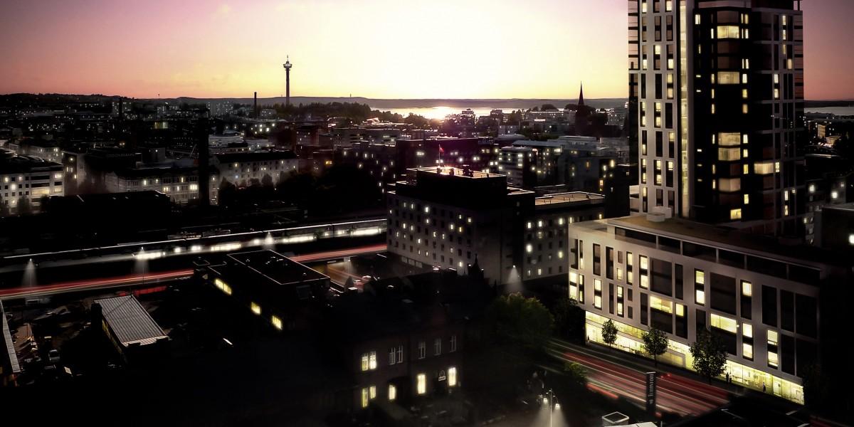 Tampereen keskustaan tulee uusi asuintorni