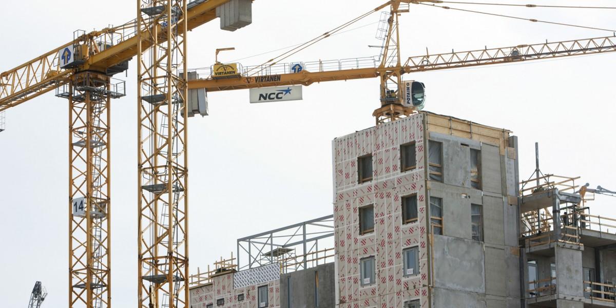 NCC:n asuntorakentamista Jätkäsaaressa.